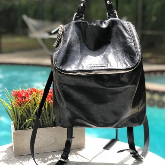 6ef13c7ac5de94 Michael Kors Bags | Lisbeth Black Leather Backpack | Poshmark